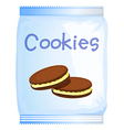 A pack of cookies vector image