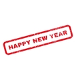 Happy New Year Text Rubber Stamp vector image