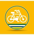 bike cycling sport badge icon vector image vector image