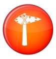 Ancient hammer icon flat style vector image