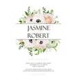 wedding invitation invite card design with rose vector image vector image