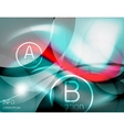 Textured smooth business wave design vector image