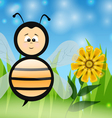 Bee in The Summer vector image