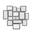 Big set of picture frames isolated on white vector image