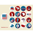 American design elements Flat design icons set vector image
