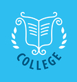 logo patterns and books for college vector image
