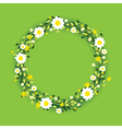 green round flowers vector image