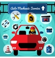 Auto Mechanical Service Decorative Icons Set vector image