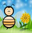 Bee in The Summer vector image