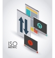 isometric interface icon design vector image