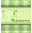 restaurant green template vector image