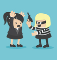 robbing a businesswoman vector image