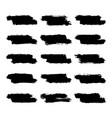 set black brushstroke paint vector image