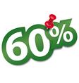 Sixty percent sticker vector image