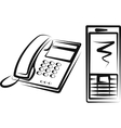 with a different kinds of phone equipment vector image