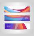 set of abstract colorful wavy headers vector image