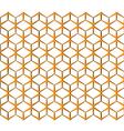 seamless abstract background Orange volumetric vector image vector image