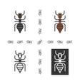 Black ant flat element vector image