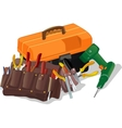 box with tools vector image