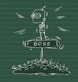 man big boss vector image