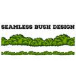 Seamless green bush design vector image