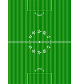 Soccer football pitch and stars background vector image vector image
