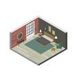 Bedroom in isometric view vector image