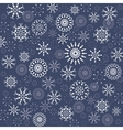 Christmas pattern Winter theme texture Snowflake vector image