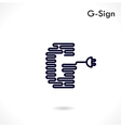 Creative G letter icon abstract logo design vector image