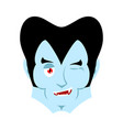 dracula winking emoji vampire happy emotion face vector image