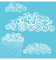 hand-drawn stylize cute curly clouds vector image