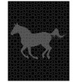 horse on the puzzle vector image