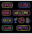 neon signs vector image