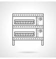 Oven for buns flat line icon vector image