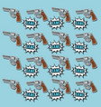 pop art handgun wallpaper vector image