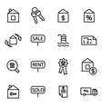 thin line icons - real vector image