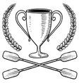 doodle award canoo vector image vector image