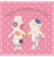 Happy grandparent day card vector image