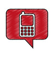 speech bubble with cellphone icon vector image