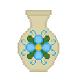 vase with a flower on a white background vector image