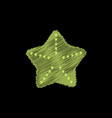 starfish flet in hatching style vector image vector image