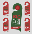 Big Hotel Sale badge sticker label or tag vector image vector image
