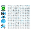 Collection of 1000 flat icons vector image