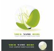 Sphere with grass inside vector image vector image