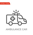 ambulance car icon vector image