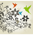 Birds a flower4 vector image