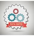 data center gears wheel vector image