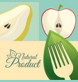 food diet natural product poster vector image