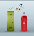 proper battery disposal vector image