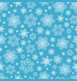 seamless pattern of snowflakes on blue vector image
